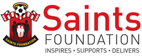 saints foundation logo white
